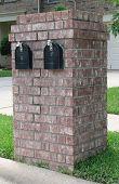Neighborhood Brick Double Mailbox