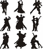 dance icons - silhouettes