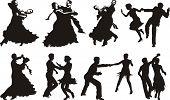 Постер, плакат: танец значки