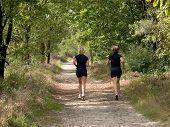 Two Women Jogging.