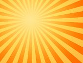 stock photo of heatwave  - large yellow and orange image of the hot summer sun beating down - JPG