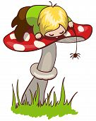 Little boy on mushroom