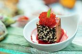 Tuna With Sesame And Tobico Caviar