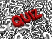 stock photo of quiz  - Success 3D text surrounded by question marks - JPG