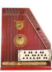 picture of autoharp  - Antique Wooden autoharp from the early twentieth century - JPG