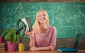 Modern Education. Back To School. Virtual Education. Virtual Reality Gadget. Virtual Cyber Space. Au poster