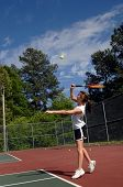 Ball Is Airborne During Serve