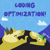 Conceptual Hand Writing Showing Coding Optimization. Business Photo Text Method Of Code Modification poster