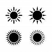 Sun Icon Set. Sun Collection Logo Icon Vector. Sun Star Collection, Sun Icon Logo. Sun Icon. Sun Log poster