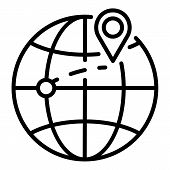 Destination Of Export Goods Icon. Outline Destination Of Export Goods Vector Icon For Web Design Iso poster