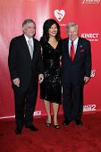 LOS ANGELES - FEB 10:  Les Moonves, Julie Chen, guest arrives at the 2012 MusiCares Gala honoring Pa
