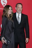 LOS ANGELES - FEB 10:  Rita WIlson, Tom Hanks arrives at the 2012 MusiCares Gala honoring Paul McCartney at LA Convention Center on February 10, 2012 in Los Angeles, CA