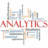 Concepto de Cloud de palabra Analytics