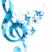 Music Background With Music Notes Vector Illustration Design. Artistic Music Festival Poster, Live C poster