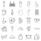 Spirit Icons Set. Outline Set Of 25 Spirit Icons For Web Isolated On White Background poster