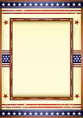 american used frame. Retro style american image with a frame.  See another illustrations like this i
