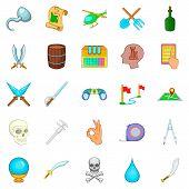 Archeology Icons Set. Cartoon Set Of 25 Archeology Icons For Web Isolated On White Background poster
