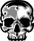 stock photo of skull crossbones  - Skull or demon head illustration Vector Image - JPG