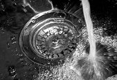 Water fallen in sink