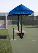 Covered Tennis Court Bench