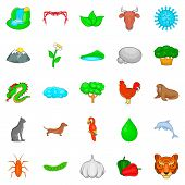 Domesticated Animal Icons Set. Cartoon Set Of 25 Domesticated Animal Icons For Web Isolated On White poster