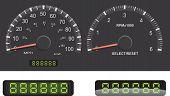Tachometer und Drehzahlmesser