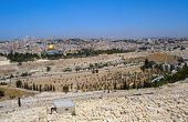 View from the Mount of Olives on Old Jerusalem, Israel