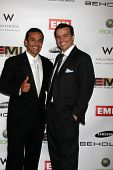 LOS ANGELES, CA - FEB 13: Antonio R. Villaraigosa  & Elio Leoni-Sceti at the EMI GRAMMY After-Party
