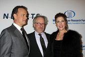 LOS ANGELES, CA - JAN 27: Tom Hanks, Steven Spielberg, & Rita WIlson at the