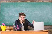 Life Of Teacher Full Of Stress. Educators More Stressed At Work Than Average People. Educator Bearde poster