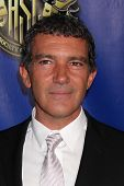 LOS ANGELES - FEB 12:  Antonio Banderas at the Press Area of the 2012 American Society of Cinematogr