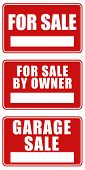 For Sale And Garage Sale Signs
