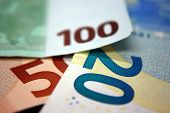 Euro Money. Euro Cash Background. Euro Money Banknotes. Background From Different Euro Banknotes Clo poster