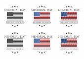 Memorial Day. Remember And Honor Or Honoring All Who Served Text. Vector Illustration poster