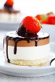 Chocolate Cake with Fresh Strawberry