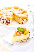 Cottage cheese and apricot cake