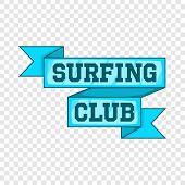 Surf Club Emblem Icon. Cartoon Illustration Of Surf Club Emblem Vector Icon For Web Design poster