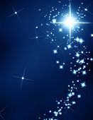 picture of shooting star  - star on a dark background with some sparkles - JPG