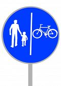 Vector image of a road sign bikeways