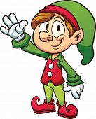 Christmas elf. Vector clip art illustration with simple gradients. All in a single layer.