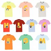 T-shirts With Pictures Of Animals And Words On It Vector