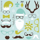 stock photo of antlers  - Retro Party set  - JPG