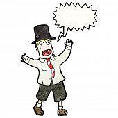 homem vagabundo gritando de desenhos animados