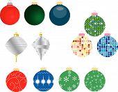 Set Of 12 Christmas Ornaments