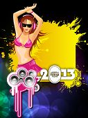 2013 New Year Party Background. EPS 10.