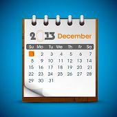 December 2013 calender. EPS 10.