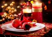 picture of adornment  - Christmas Table Setting - JPG