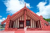 Maori Marae (meeting House And Meeting Ground)