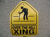 Over The Hill Sign