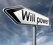 will power of the mind or self discipline or determination control thoughts